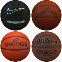 4 Basketballs Set