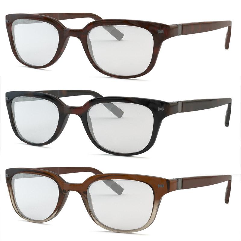 3d model eyeglasses glasses frames