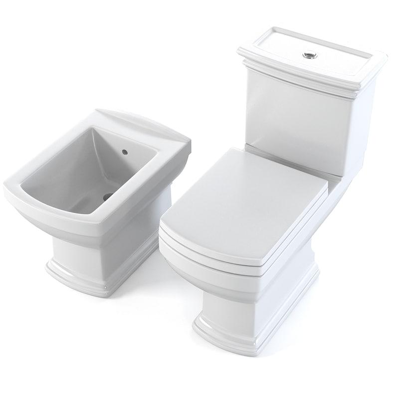 3d model cezares wc toilet