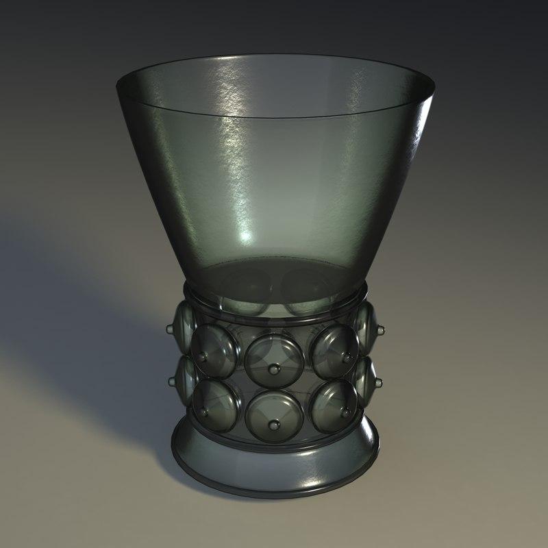 glass chalice 3d model