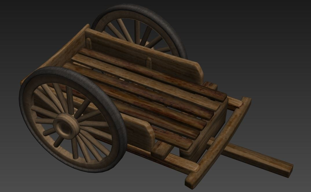 wooden wheelbarrow max