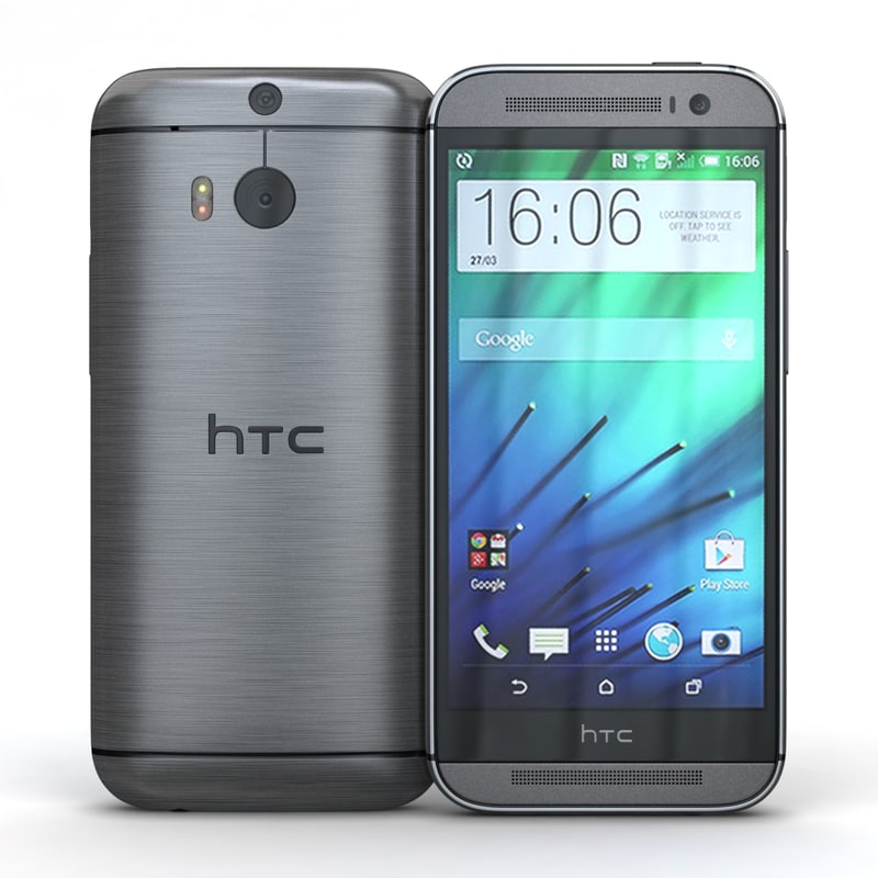 3d model htc m8 gunmetal gray