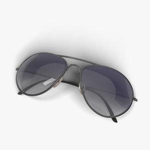dark sunglasses aviator 3d model