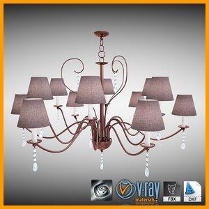 chandelier 3d 3ds