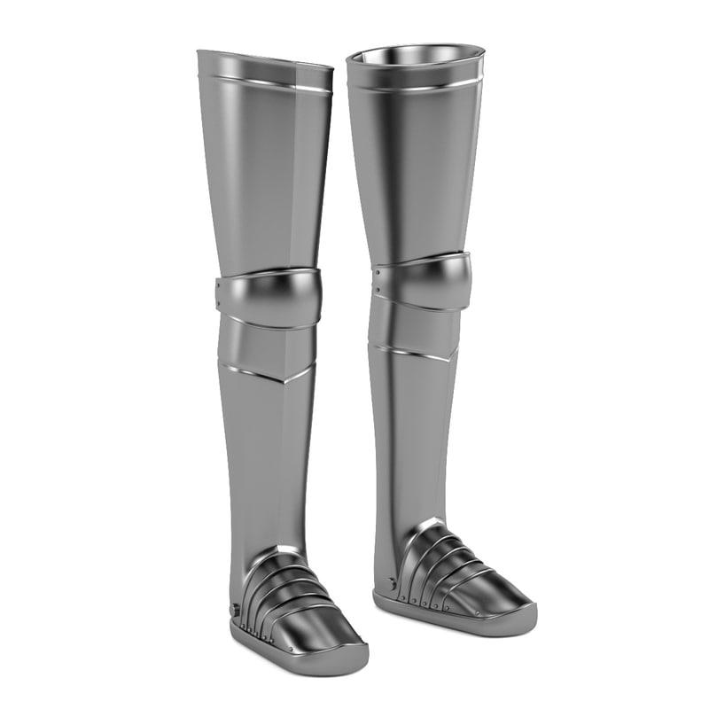 3d model leg medieval armor