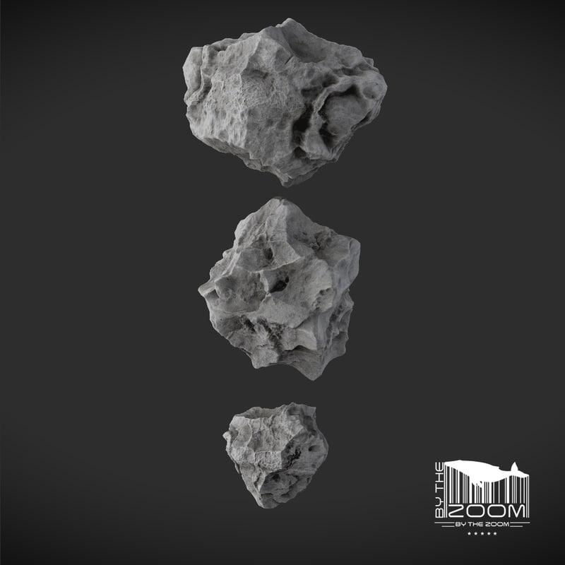meteorites 3d model