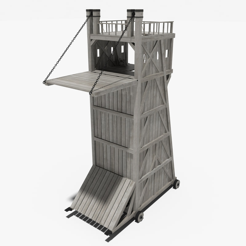 medieval siegetower 3d model