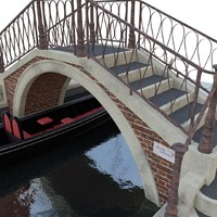 venice bridge with gondola