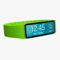 3d samsung gear fit green model