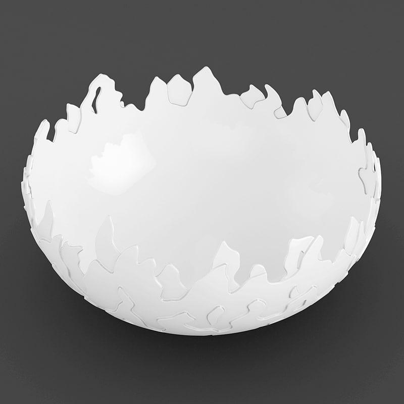 bowl flame 3d max