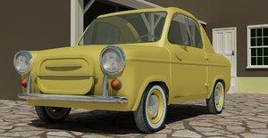 1959 vespa 400 micro 3d max