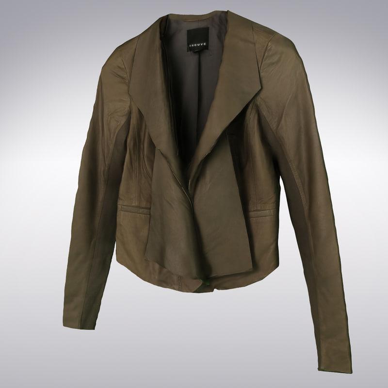 3d model women s brown leather