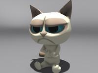 3d model grumpy cat