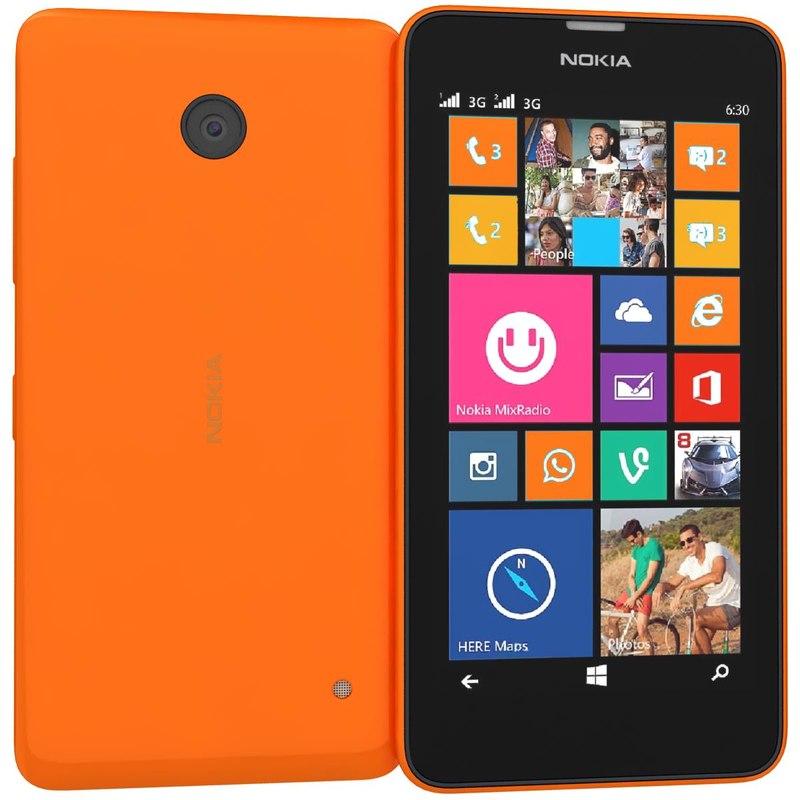 3d model nokia lumia 630 635