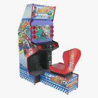 3d model simulator kart racing arcade machine