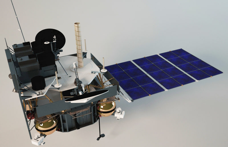 satellite russian 3d model
