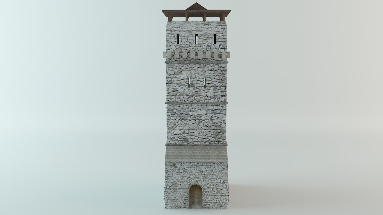 medieval tower 3d max