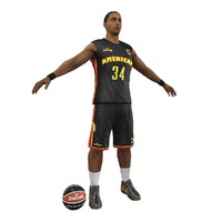 basketball player ball 3d max