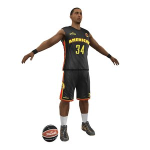 basketball player ball 3d max