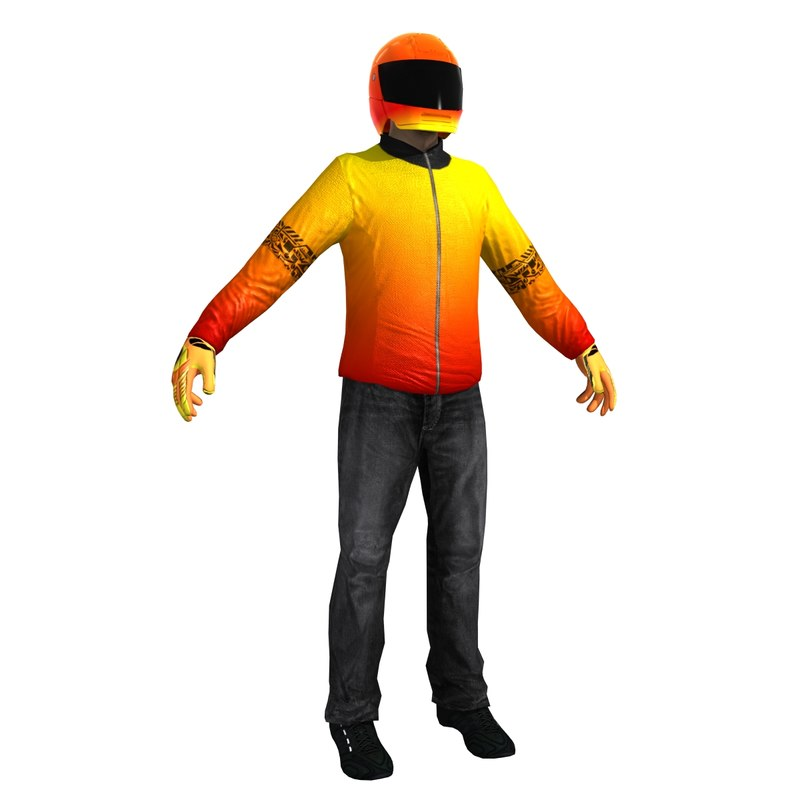 biker helmet 3d max
