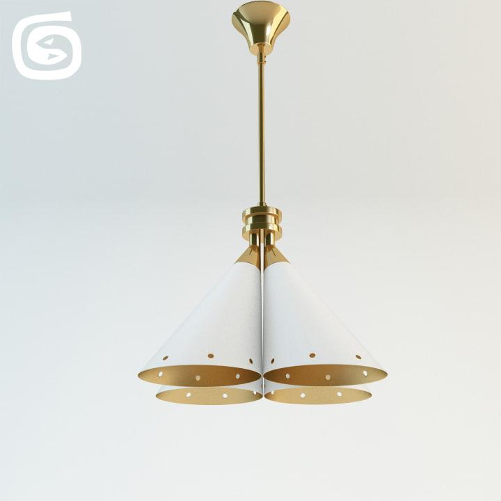 3d model madeleine lamp