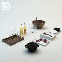 3d kitchen set 1 model