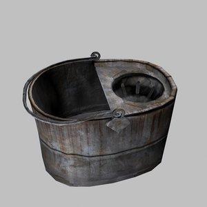 3d mop bucket