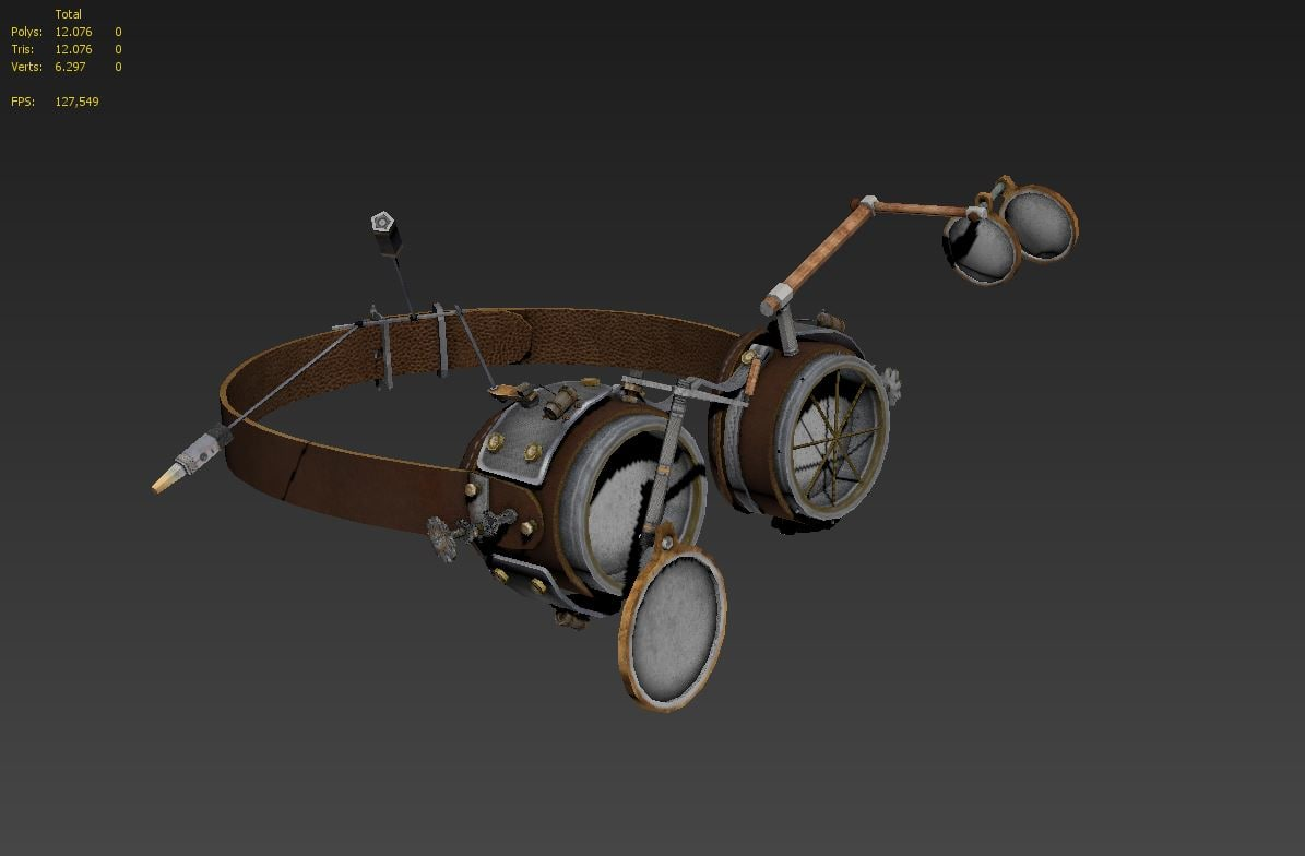 steampunk goggles 3d 3ds