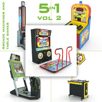Arcade Machines And Table Games 5in1 Vol 2