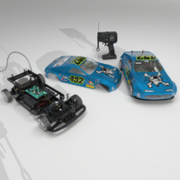 3d aaa powered rc car
