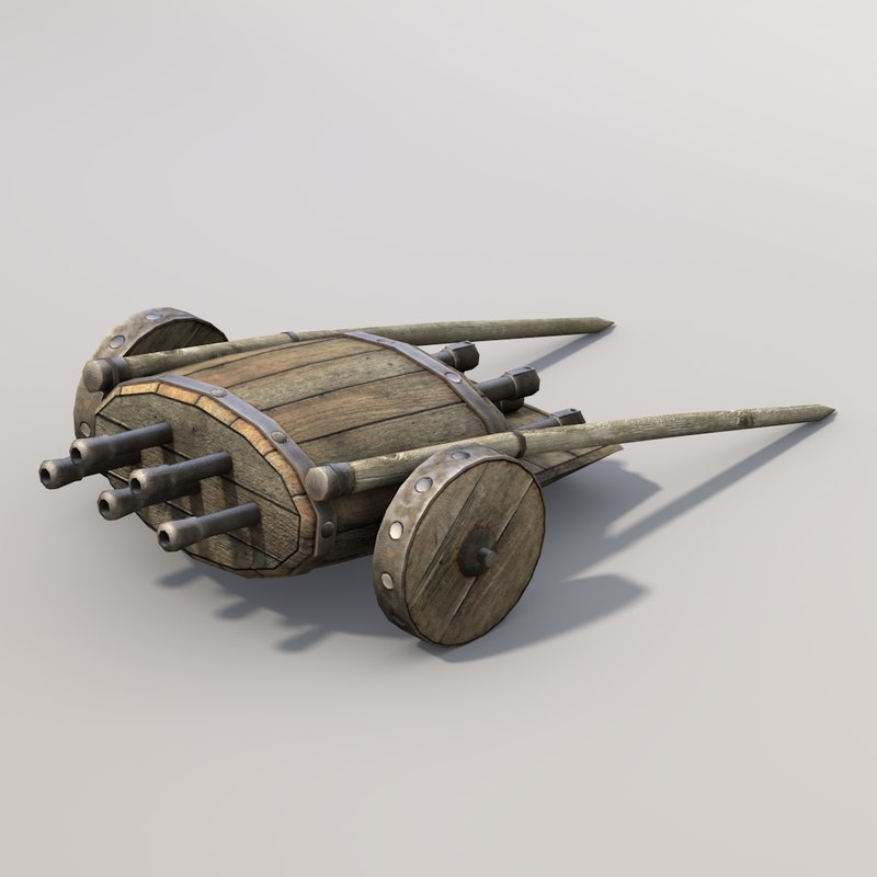 middle ages organ gun games 3d model
