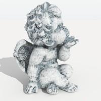 3d model angel bust