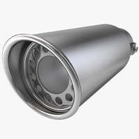 3ds max automobile exhaust tip