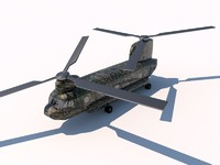 3d boeing chinook helicopter