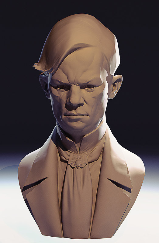 3ds max bust human