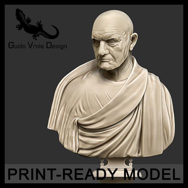 3d printable roman empire consul model