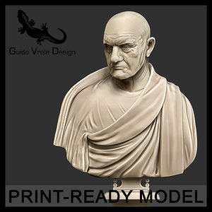 3d printable roman empire consul model
