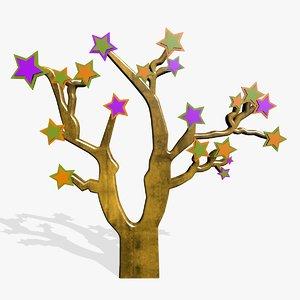 cartoon tree 3d 3ds