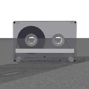 3d cassette tape s model