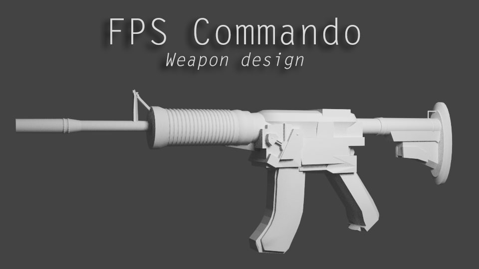 commando weapon shooter blend