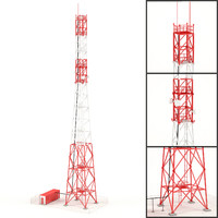 3d model communication tower