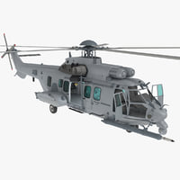 Eurocopter EC725 Caracal Tactical Transport Helicopter Rigged
