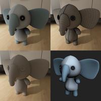 toy elephant 3d max