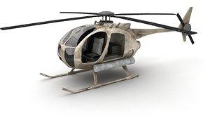 3d mh-6 little bird model