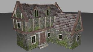 medieval house 3d ma