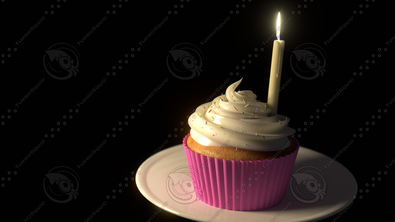 3d model cupcake muffin
