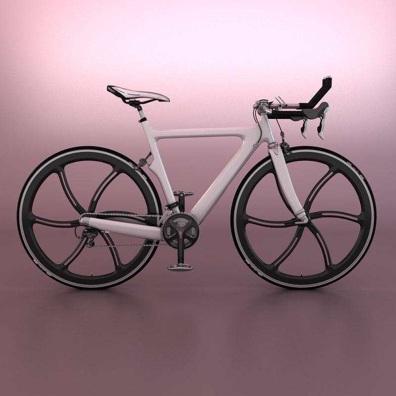 triathlon bicycle 3d max