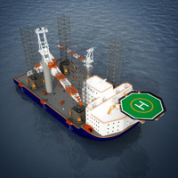 Multi Purpose Jack Up Platform / Installation Vessel