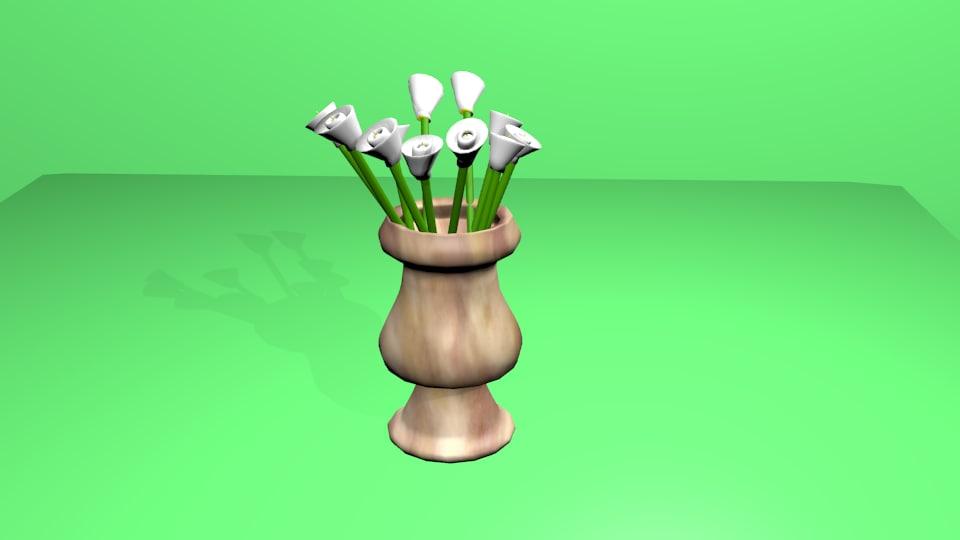 vase tulips obj free