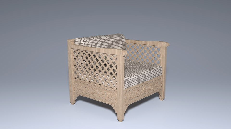 moroccan chair 3d model